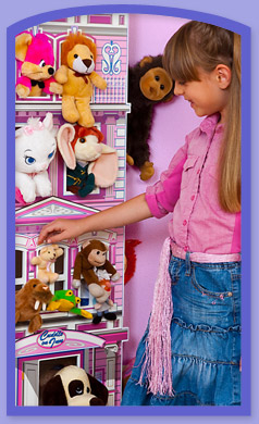 Displays Favorite Plush Toys